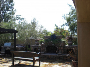 landscaping around fire pit yorba linda ca