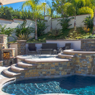 side view pool steps yorba linda ca