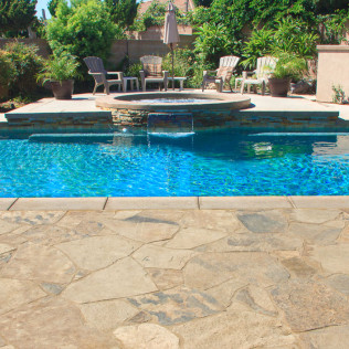 pool spa waterfall feature yorba linda ca